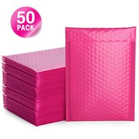 50PCS 6x10inch Rose pink Envelope Bags Bubble Mailers Padded Envelope Lined Poly Mailer Self Seal Rose Red Mailing Bags Package