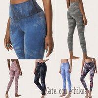 Summer Tie-Tinking Womens Lu Leggings Pantaloni Yoga Nudo Allinea Sport Tighing Tighing Camouflage Sport XS-XL J1KN #