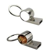 Ankunft Sublimation Leerer Metallpfeife Schlüsselanhänger Transferdruck benutzerdefinierte DIY Schlüsselanhänger Verbrauchsmaterialien