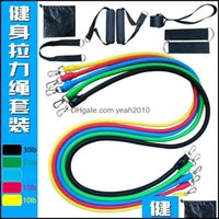 Resistance Equipments Supplies Sports & Outdoorsresistance Bands 11 Sets The Field Fitness Amenities Pling Rope Packaged Combination Chest E