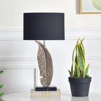 Table Lamps Modern Designer Lamp Fabric Resin Feather For Living Room Bedroom Desk Decor Light Nordic Home Bedside
