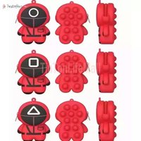 Decompression toys silicone bubble squid game wallet coin sensory adult children compression toy 12*9*4cm shoulder strap bag BO21