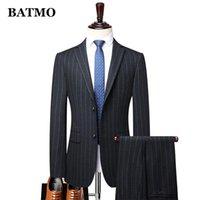 Men's Suits & Blazers BATMO 2021 Arrival Autumn High Quality Striped Men,wedding Dress,plus-size M-4XL 8967