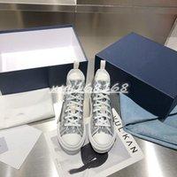 2021 Высокое качество 1.1 Высокий топ темно-синий мужской мужской и Shawn Multicolor Twill резиновые цветочные холст женские женские бандовские сандалии повседневная обувь