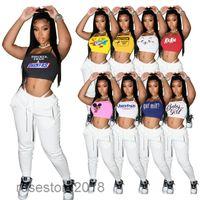 9 Cores Hot Selling New Women Designer Verão Mulheres Adorável Vest Imprimir Slip Ombro Strap e Luz Elastic Slim Underwear