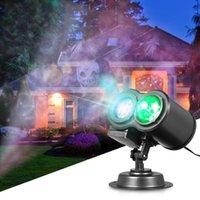 만화경 프로젝터 원격 제어 물 웨이브 램프 투사 할로윈 빛 잔디밭 풍경 스포트 라이트 12pcs Gobo 슬라이드 LED 문자열