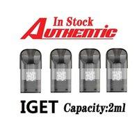 100% Original IGET NOVA POD CARTRIDGE 2ML PREFILLED 1200pcs a case E-cigarette XXtra Kits Vape Pen VS Bar Plus XL bang xxl In stock