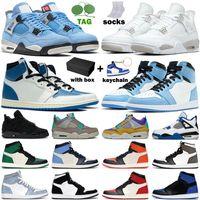 Basketball Shoes men women jordan 4s Military University Blue White Oreo Black Cat 1s Hyper Royal Dark Mocha UNC Red mens Sports Trainers Sneakers