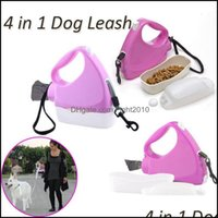 Dog Supplies Home Gardendog Collars & Leashes 4 In 1 Retractable Leash Mtifunctional Pet Lead Traction Rope With Bowl Bottle Garbage Bag Mat
