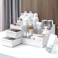 Storage Boxes & Bins Large Capacity Cosmetic Box Makeup Drawer Organizer Skin Care Nail Polish Container Desktop Sundries
