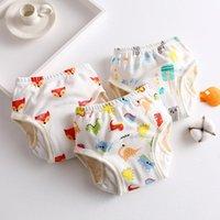 Protezione Baby Garze Pannolino Impermeabile Biancheria intima Pure Cotone Pocket Pocket Kids Study Pants 04004 Pannolini di stoffa