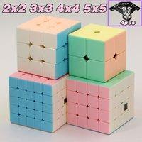 Moyu Meilong Cubes Magic Cubes Macaron 2 3 4 5 2x2 3x3 4x4 5x5 Speed Pink Cube 2x2x2 3x3x3 4x4x4 5x5x5 Rompecabezas sin adición