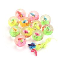 Flashing Toy Crystal Ball Jumping Party Favor Balsl Children's Bouncy Luminous Source 2021 Pink Toys colorful package LLD7746