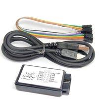 Analizador lógico 24M 8CH Microcontrolador ARM FPGA Depuración Herramienta 24MHz, 16MHz, 12MHz, 8MHz, 4MHz, Osciloscopios de 2MHz