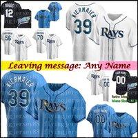 Tampa 39 Kevin Kierier Jersey Bay 12 Wade Boggs 5 Wander Franco Willy Adays Anderson Randy Arozarena Personalizado Qualquer nome Baseball Jerseys Mens M-XXXL