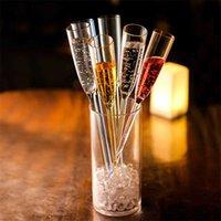 Upspirit 6 قطع البلاستيك الشمبانيا كوكتيل كأس الشمبانيا فذا النبيذ النبيذ شاطئ / حفل زفاف كوكتيل كوب بار ktv drinkware x0703