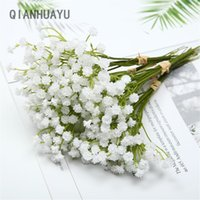 20cm White Gypsophila Artificial Flowers Wedding DIY Bouquet Decoration Po Props Plastic Babies Breath Fake Flower Home Decor Decorative & W