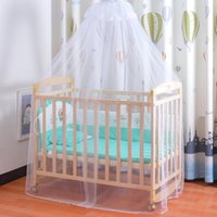 Crib Netting Universal Foldable Mosquito Net Infant Canopy Round Bed For Baby Summer Dome