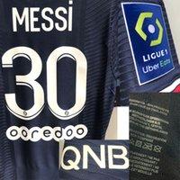 2021 American College Futebol Wear Jogador Desgastado Messi Maillot Neymar Jr Mbappe com Lavagem Tag Jersey