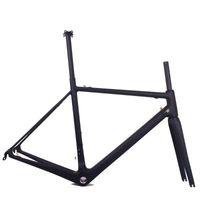 Bisiklet Çerçeveleri Süper Hafif Karbon Çerçeve Bisiklet Yol Dahili Kablolama Boyutu 48/51 / 54 CM