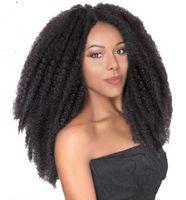 8 Packungen volle Kopf Zwei Ton Marley Braids Synthetische Haarverlängerungen Schwarz Braun Ombre Kinky Twist Fosting Fast Express Lieferung