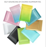 Many size multi colors Resealable Zip Mylar Bag Food Storage Aluminum Foil Bags plastic packing bag Smell Proof Pouches