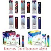 Kangviape onee alfa vara e cigarro descartável vitamina Kit 1100mAh 1800 1900 2200 Puffs 6.2ml Cartucho Vagem