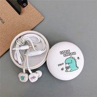 Auriculares alámbricos móviles en el oído 3.5mm Earbudos deportivos Teléfono de bajo auricular Alambre de alambre Estéreo Auriculares con música Música Auriculares de dibujos animados Handshree Oree Bogs para iPhone Samsung