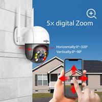 Kameralar Hiseeu 1536 P 1080 P Hız Kubbe Kablosuz WiFi Kamera 2MP 3MP Açık 5x Dijital Zoom PTZ IP Ses CCTV Gözetim