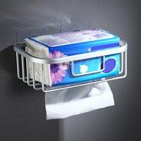 흡입 컵 화장실 롤 종이 랙 샴푸 홀더 중공 수건 저장 벽 엘 홀더의 욕실에 대 한 바구니 교수형