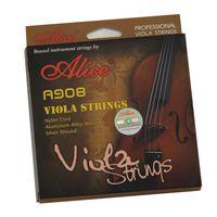 Gitarrenschnur Alice A908 Silberwund Viola Saiten Nylonkern Aluminiumlegierung vergoldetes Kugelende