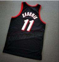 Özel Erkek Gençlik Kadınlar Vintage 11 Arvydas Sabonis Scottie Pippe Vintage Koleji Basketbol Forması Boyutu veya Özel Herhangi Bir Ad veya Numarası Forması