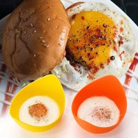 Huevo de silicona Poacher Cook Poach PADS Molde de huevo Forma Forma Huevo Anillos de huevo Silicona Panqueque Cocina Herramientas de cocina Gadgets RRD7297