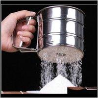 المطبخ، شريط الطعام الرئيسية جاردينهاغ الفولاذ المقاوم للصدأ غربال كأس شبكة الدقيق sifter ميكانيكية الجليد السكر شاكر خبز كعكة الخبز المعجنات