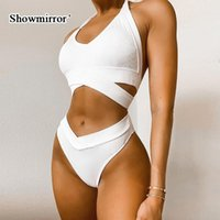 Women's Tracksuits Showmirror Two-piece Summer Solid Color Sports Underwear Short Halter Camisole+Briefs For Female Athletes Slim Sexy Suit