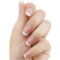 Nail Art Kits 500 Pcs French Style False Acrylic Tips Set Supplies K8W6 White Manicure R0V6