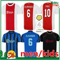 Un Jersey de Fútbol Jax Amsterdam Ajax 2021 2022 Kudus Antony Blind Promes Tadic Neres Cruyff 22 22 Hombres + Kit Kit Kit Fútbol Camisa Uniformes Uniformes Azul Tercer Negro