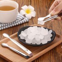 Mutfak Aletleri 5 Inç Buz Şeker Maşa Klipleri Güzel Tasarım Parlak Lehçe Paslanmaz Çelik Mini Tong Klip DHD6694