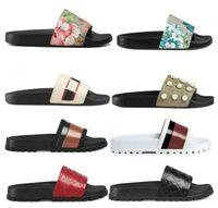 2021 남성 여성 디자이너 샌들 신발 럭셔리 슬라이드 여름 패션 와이드 플랫 미끄러운 두꺼운 슬리퍼 플립 플롭 크기 36-45