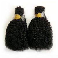İnsan Örgü Toplu Saç Siyah Kadınlar Için İnsan Saçları Örgüyor Perulu Afro Kinky Kıvırcık Toplu Saç Uzantıları