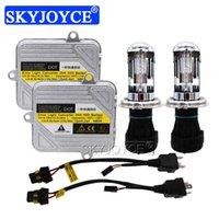 Skyjoyce New 12V 55W Xenon H4 Bixenon Bombilla Digital Slim Ballast 4300K 6000K 8000K H4-3 Kit de conversión HID