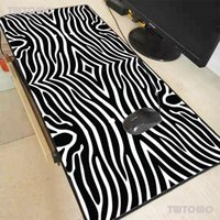 Mouse Pads & Wrist Rests Black And White Lines Large Gaming Pad Oversize Extended Mousepad Base Computer Keyboard Mat