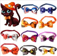 Dog Apparel Pet Bow Tie Halloween Cosplay Necktie Adjustable Pets Bowties Collar Dogs Accessories Grooming Products