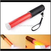 مصباح يدافع المشاعل السلامة 4 طرق مصابيح حركة المرور الضوء العصي الفلورسنت LED فلاش Ligh استخدام بطاريات 3X FCPXJ GFF0B