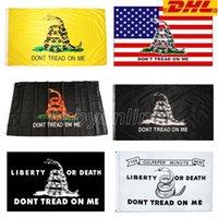 DHL DONT TRACCIA SU ME SNAKE 90 * 150 Trump Flag 3 * 5 piedi 2024 USA Bandiere presidenziali elezione presidenziale Bandiere da giardino Banner