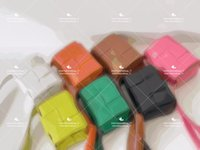 Designer Plain Crossbody Bags Fashion Woven Bag Long Shoulder Straps Mini Cute Leather Wallet Casual Multiple Colors