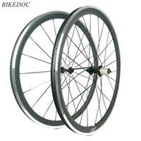 عجلات الدراجة Bikedoc 700C عجلة الكربون 38 ملليمتر * 23 ملليمتر مع سطح الفرامل سبائك