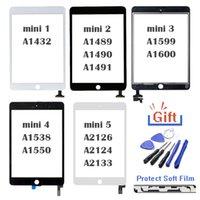 Tablet PC Écrans 7 9 pouces pour iPad Mini 1 2 3 4 5 Touch Digitizer Assembly Assembly Écran Remplacement Verre extérieure Panneau de lentille Vente en gros Bouton Maison Flex Câble Connecteur IC