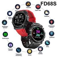 مصمم ساعات ماركة فاخرة ص طويلة الاحتياطية FD68S 1.44 بوصة الرياضة الذكية الرجال النساء الذكية القلب معدل ضغط الدم monito دفع الطقس