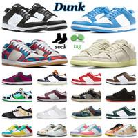 Dunk SB Homens Mulheres Sapatos Casuais Dunks Low Zebra Preto Branco University Blue Sail Multi Camo Arte Abstrata Shadow Michigan Sapatilhas Masculinas Esportivas Ao Ar Livre